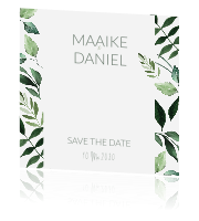 Botanische save the date kaart