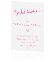 Trendy bridal shower uitnodiging in roze