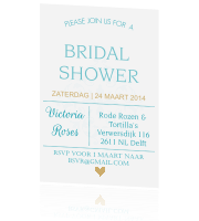 Bridal shower in typografiestijl