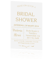 Bridal shower in goudkleur