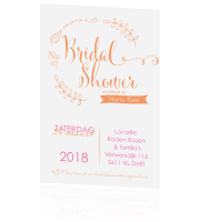 Trendy bridalshower uitnodiging in mintgroen!