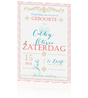Geboortekaartje in trendy design en pasteltinten