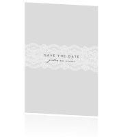 Lace | Save the date kaart met kant