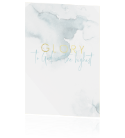 Glory to God in the highest | Christelijke kerstkaart