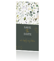 Save the date kaart | winterblue