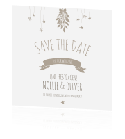 Save the date met mistletoe en sterren