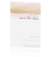 Chique save the date met verfstreken