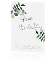 Save the date kaart | Greenery