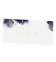 Save the date met watercolor en goudfolie