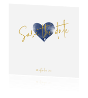 Save the date  met watercolor hart