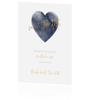 Trendy save the date kaart met hart