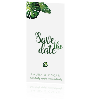 Tropical | Panorama save the date kaart