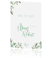 Typografie save the date kaart