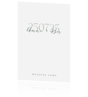 Chic design | wedding vows