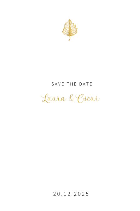 Leaf | chique save the date kaart