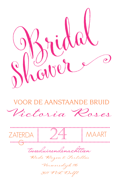 Bridal shower uitnodiging