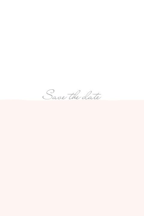 Simple chic | Save the date kaart