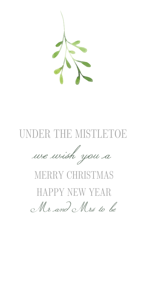 Mistletoe | save the date kerstkaart