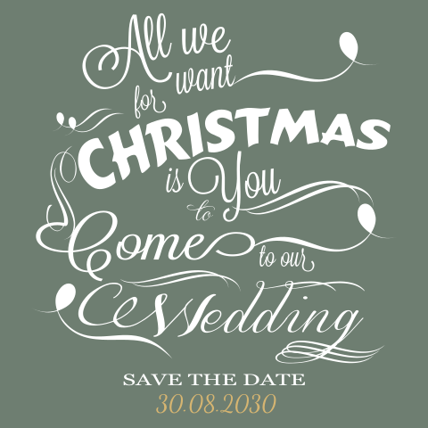 Save the date kaart en kerstkaart in een