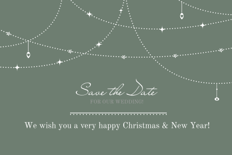 Combineer kerstkaart en save the date kaart!