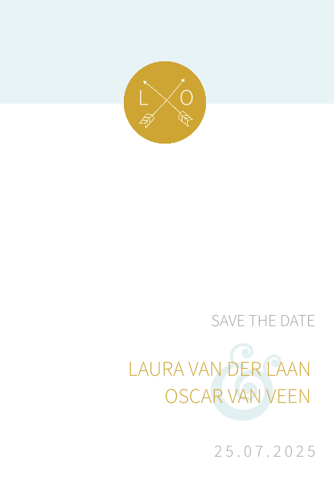 MODERN | save the date kaart in moderne stijl