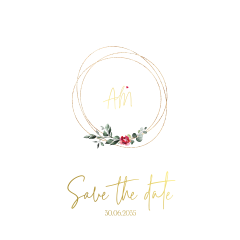 Save the date Bohemian Chic