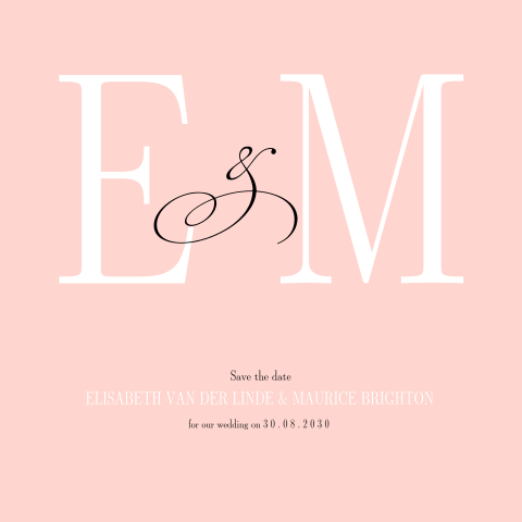 "The new chique ""modern initials""  