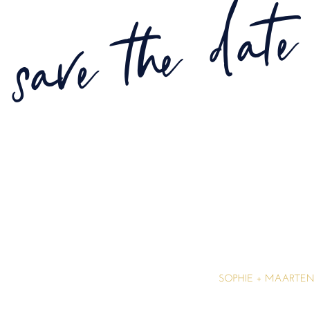 Moderne save the date kaart