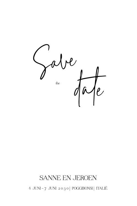 Save the date met minimalistisch design