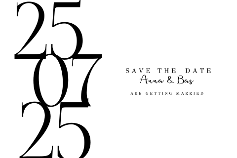 Chic design | moderne save the date kaart