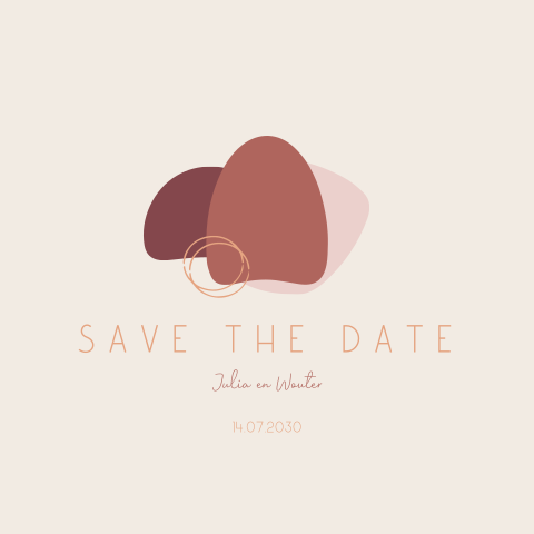 Moderne save the date