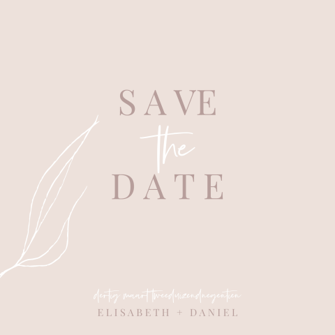 Save the date in nude tinten