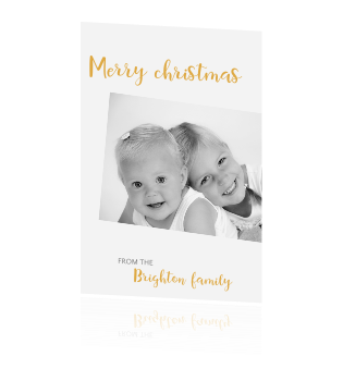 Simple Chic | kerstkaart met foto