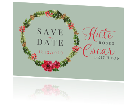 Christmas Save The Date.Christmas Save The Date Kaart Met Mooie Krans