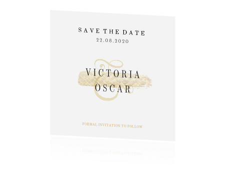 Christmas Gold Save The Date Kaart In Chique Stijl