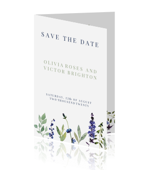 Blueberry classy | Save the date kaart