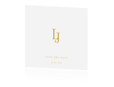 Classy chic | save the date kaart met monogram