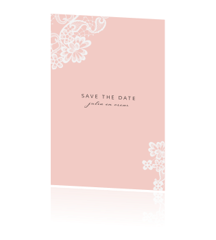 Lace | Save the date met kant