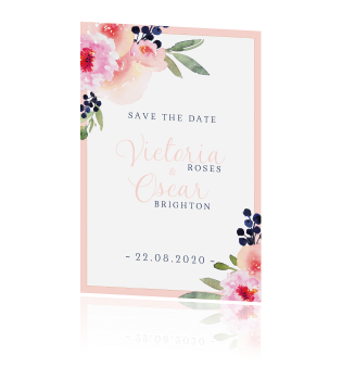 Flower chic |Save-the-date kaart