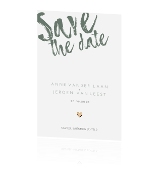 Stoere save the date kaart
