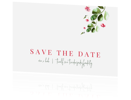 Save the date met klaprozen