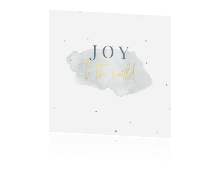 Joy to the world | kerstkaart met tekst