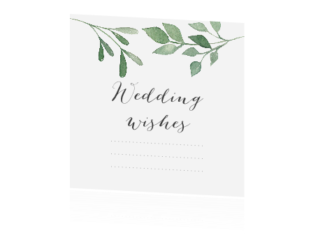Wedding wishes | Greenery